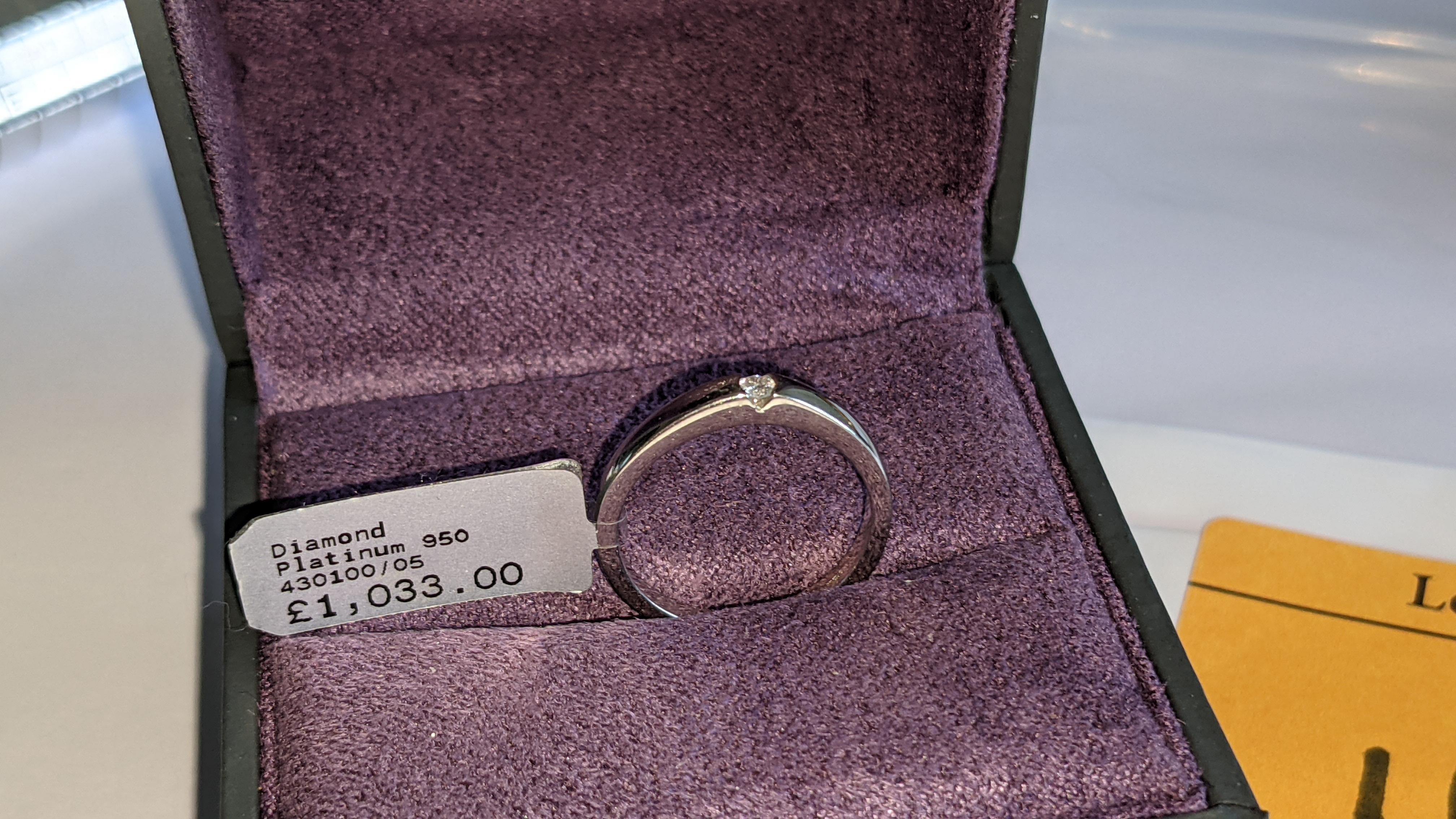Platinum 950 ring with 0.05ct H/Si diamond. RRP £1,033 - Image 3 of 13