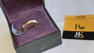 Diamond, platinum & yellow gold ring with single diamond weighing 0.08ct on what appears to be a pri