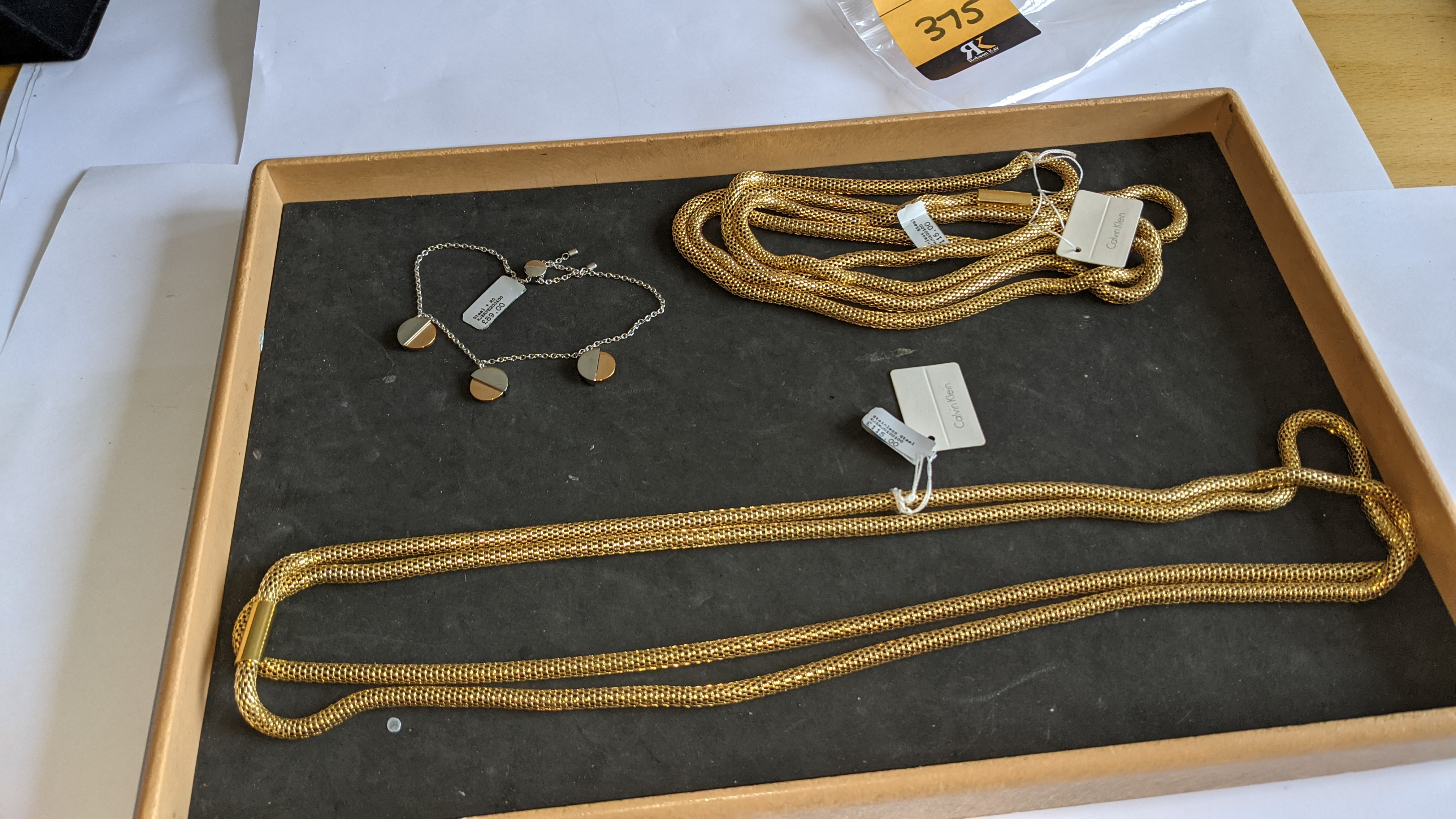 3 pieces of Calvin Klein jewellery comprising 2 off long necklaces each with an RRP of £115 plus two - Image 11 of 13