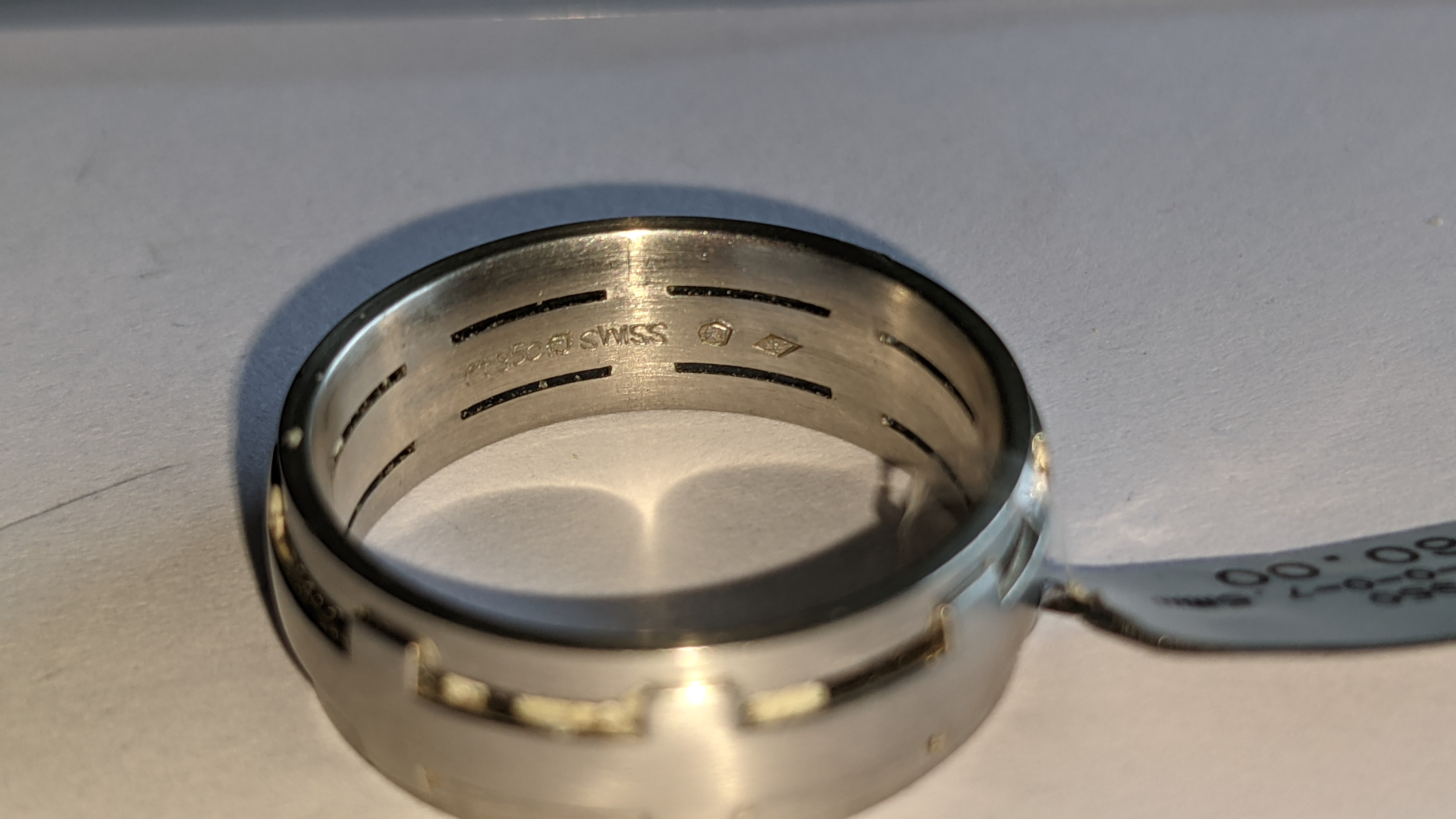 Platinum 950 ring in matt & polished finish, 7.5mm wide. RRP £2,960 - Image 10 of 15