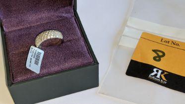 Platinum 950 & pave diamond ring. RRP £1,995