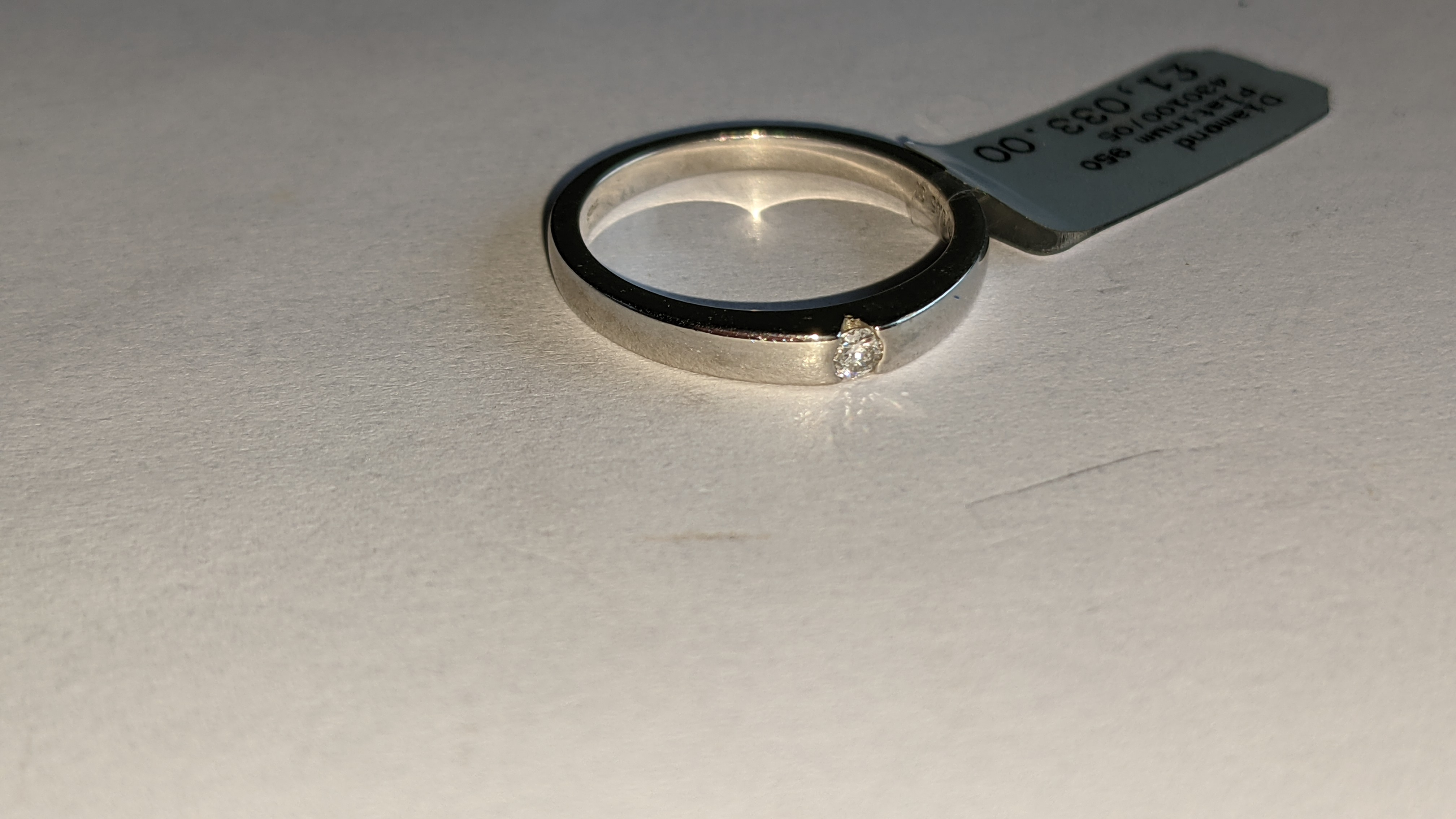 Platinum 950 ring with 0.05ct H/Si diamond. RRP £1,033 - Image 6 of 13