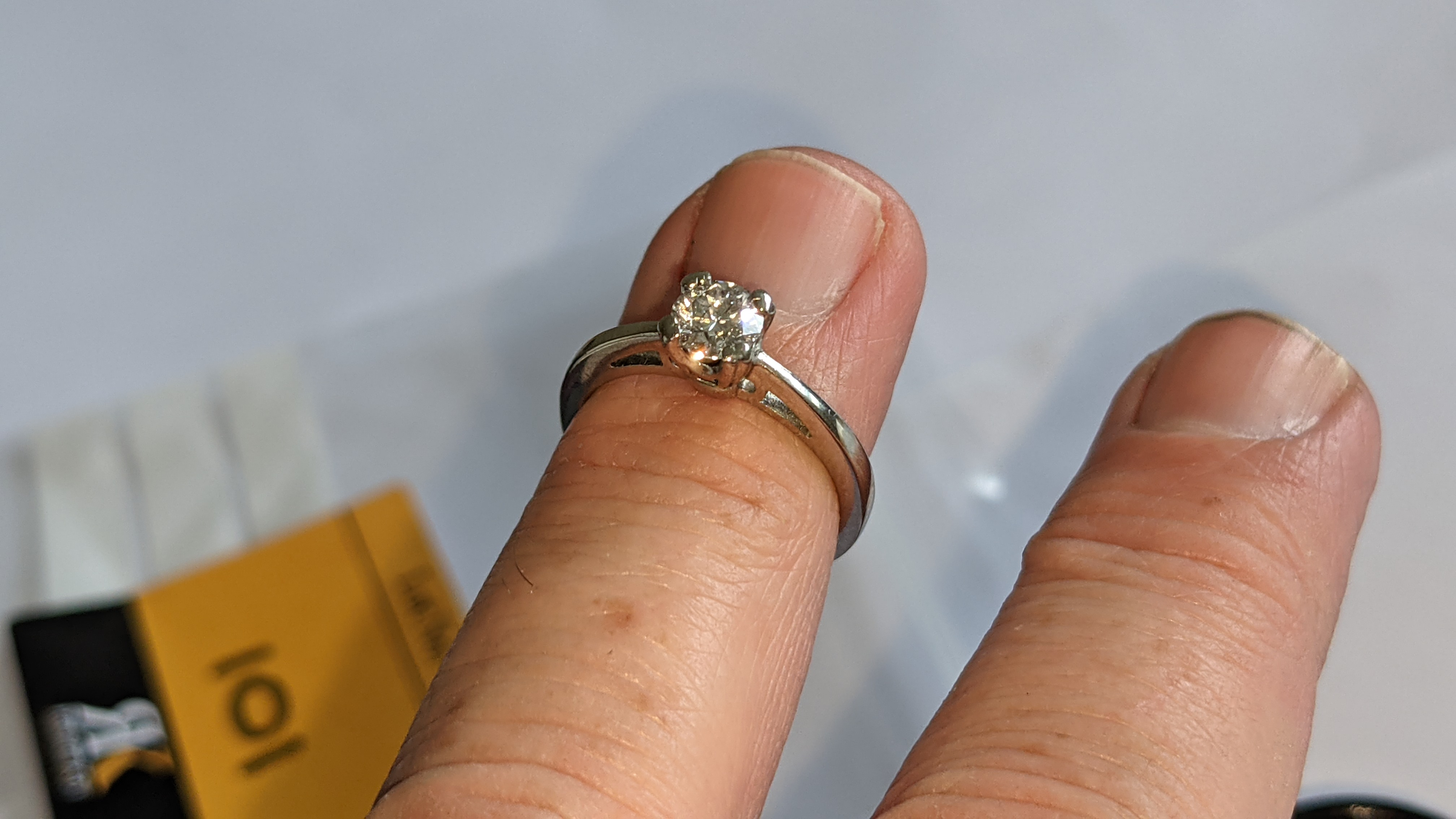Platinum 950 ring with 0.50ct diamond. Includes diamond report/certification indicating the central - Image 13 of 25