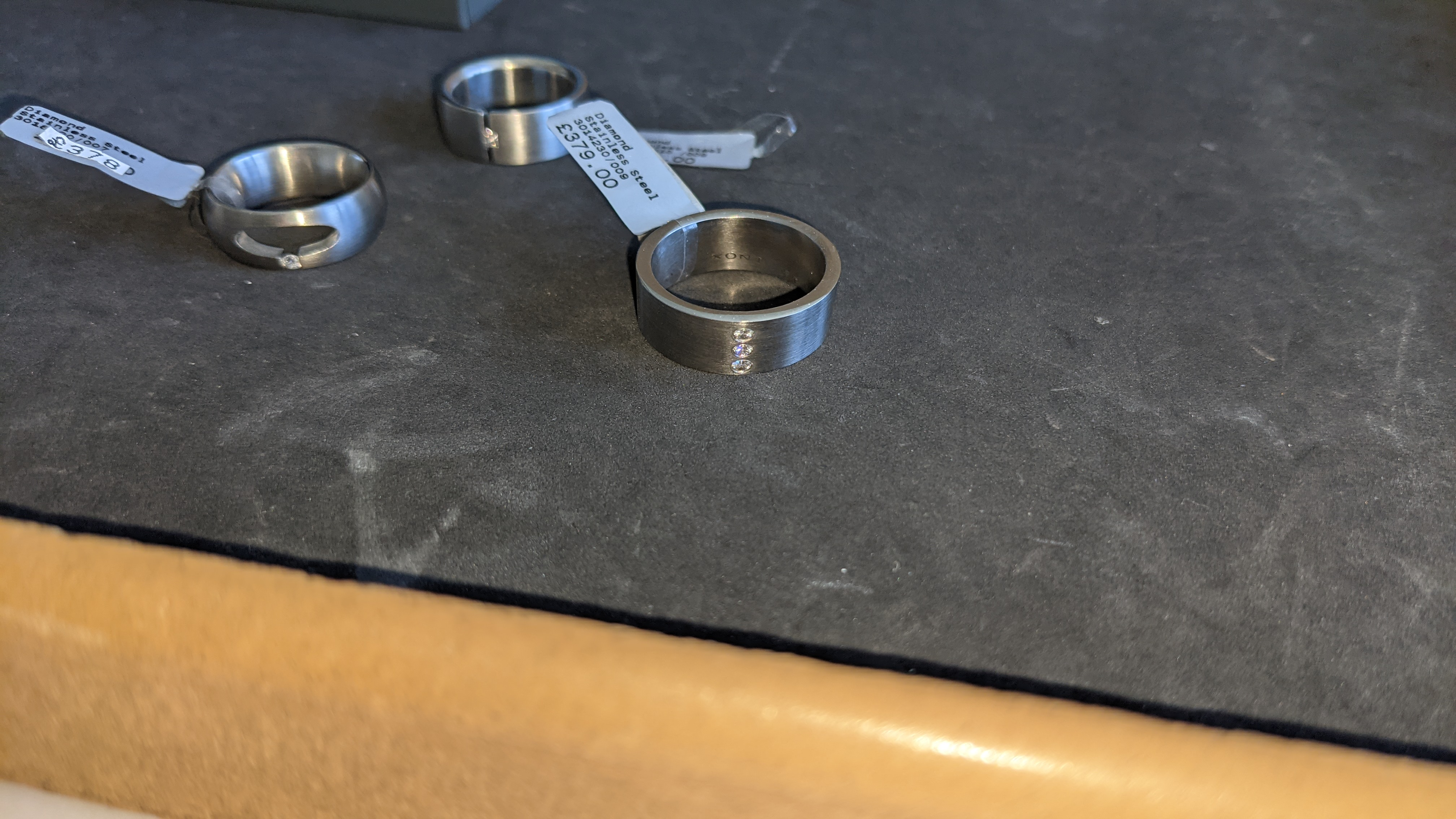 3 off assorted stainless steel & diamond rings with RRPs of £360, £378 & £379. Total RRP £1,117 - Image 12 of 14
