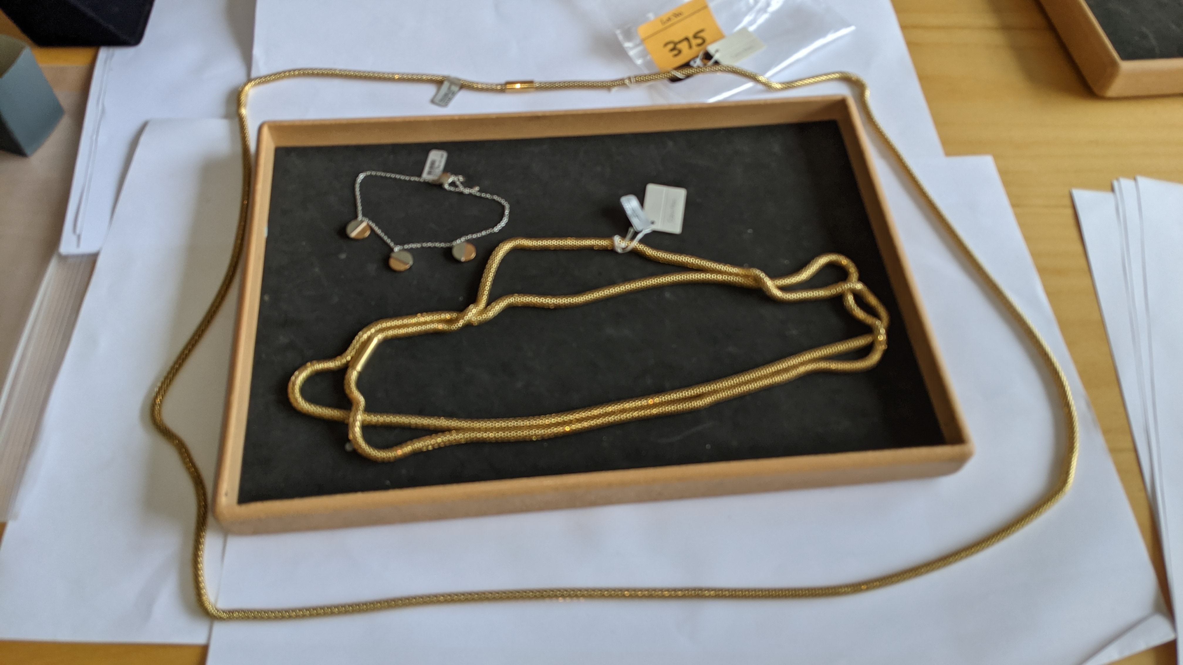 3 pieces of Calvin Klein jewellery comprising 2 off long necklaces each with an RRP of £115 plus two - Image 3 of 13