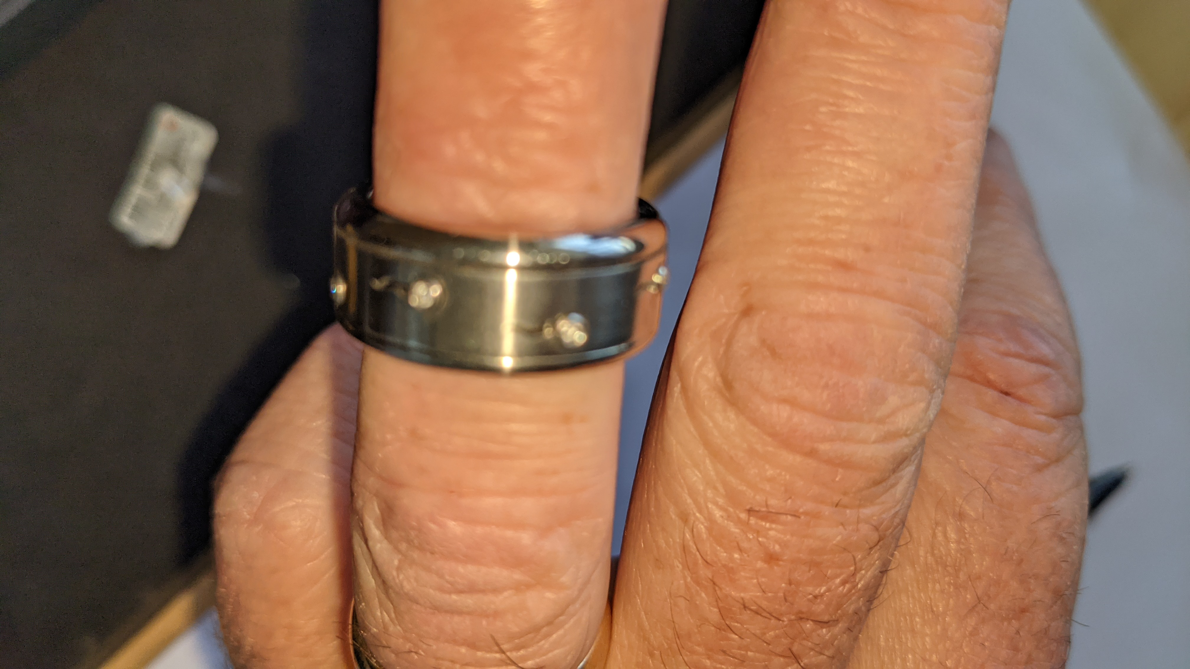 Stainless steel & diamond spin ring RRP £455 - Image 13 of 13