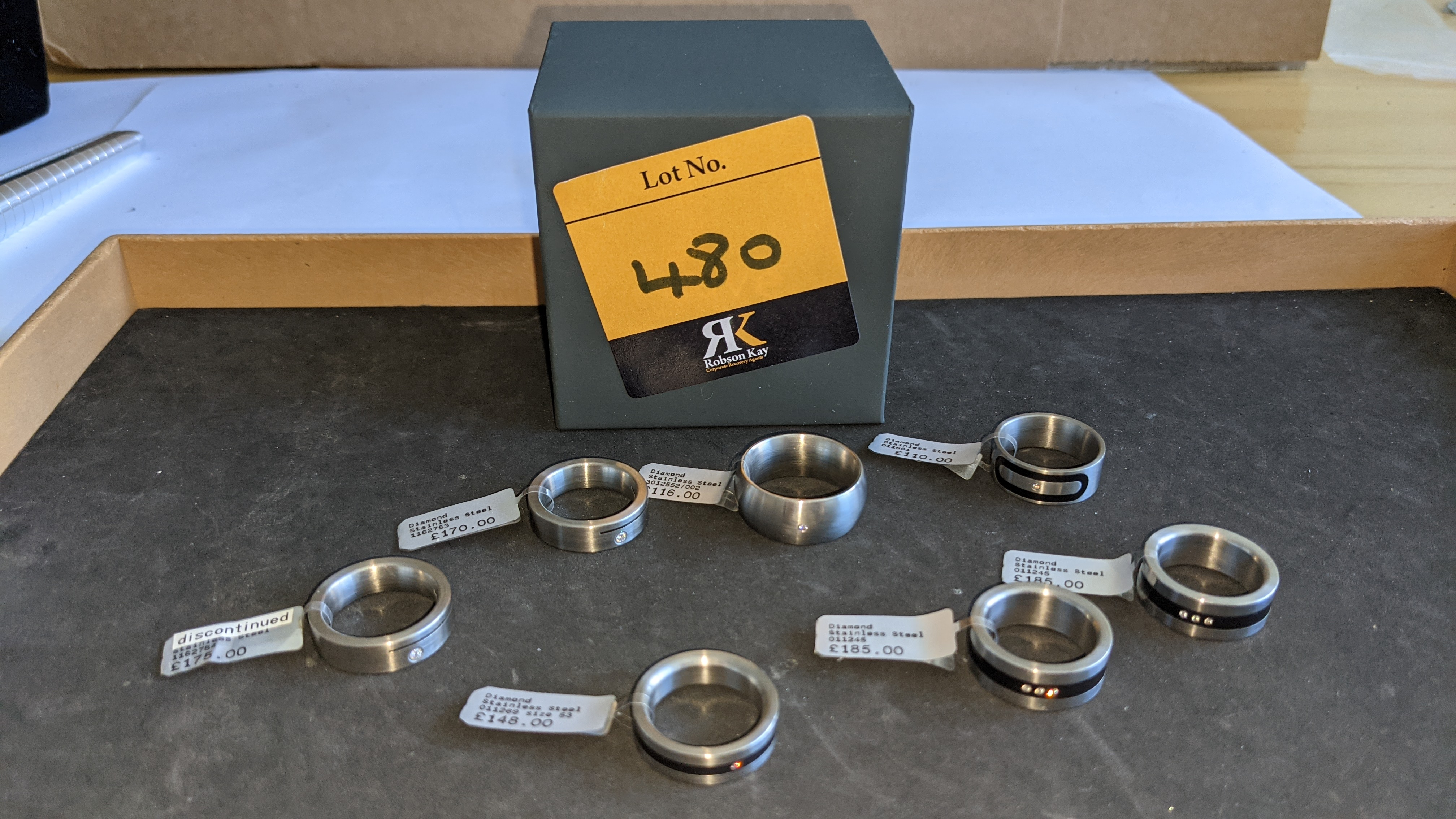 7 off assorted stainless steel & diamond rings. RRPs from £110 - £185. Total RRP £1,089 - Image 2 of 12