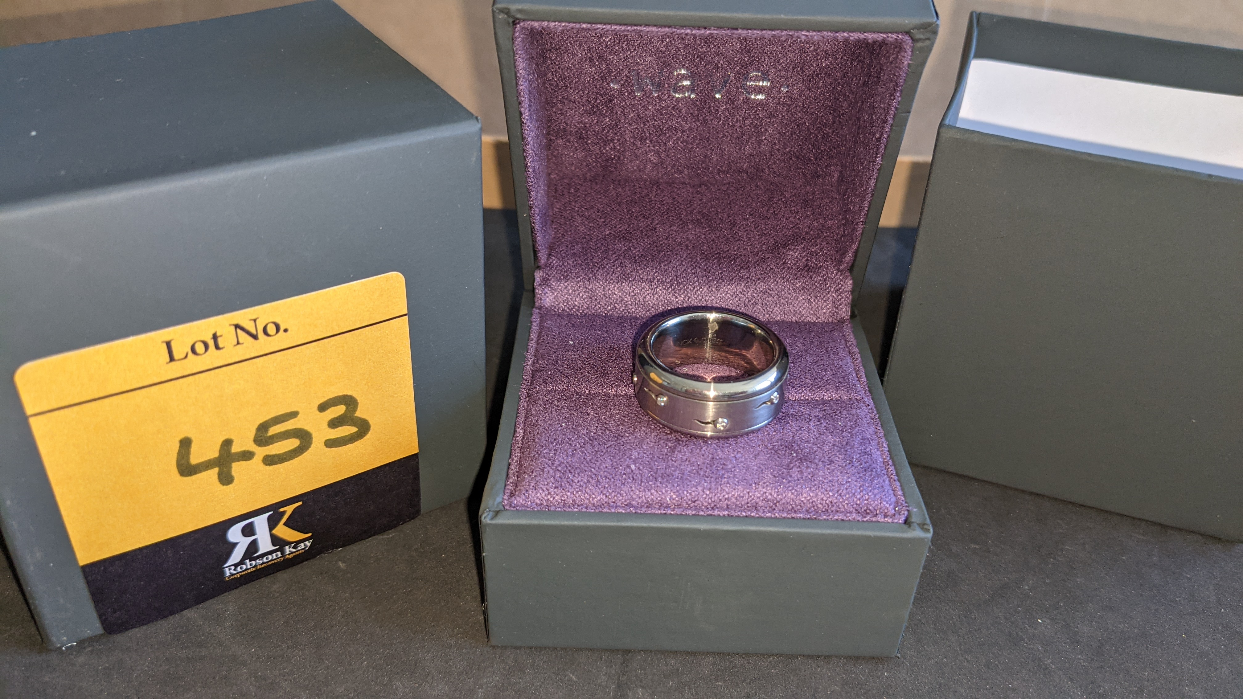 Stainless steel & diamond spin ring RRP £455 - Image 2 of 13