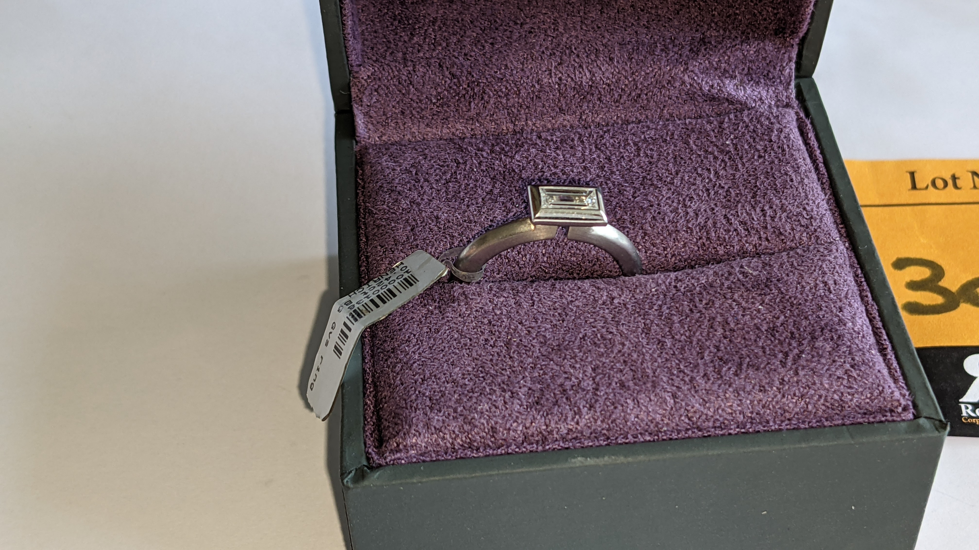 Modern platinum 950 & diamond ring with 0.42ct centrally mounted stone. RRP £4,677 - Image 3 of 18