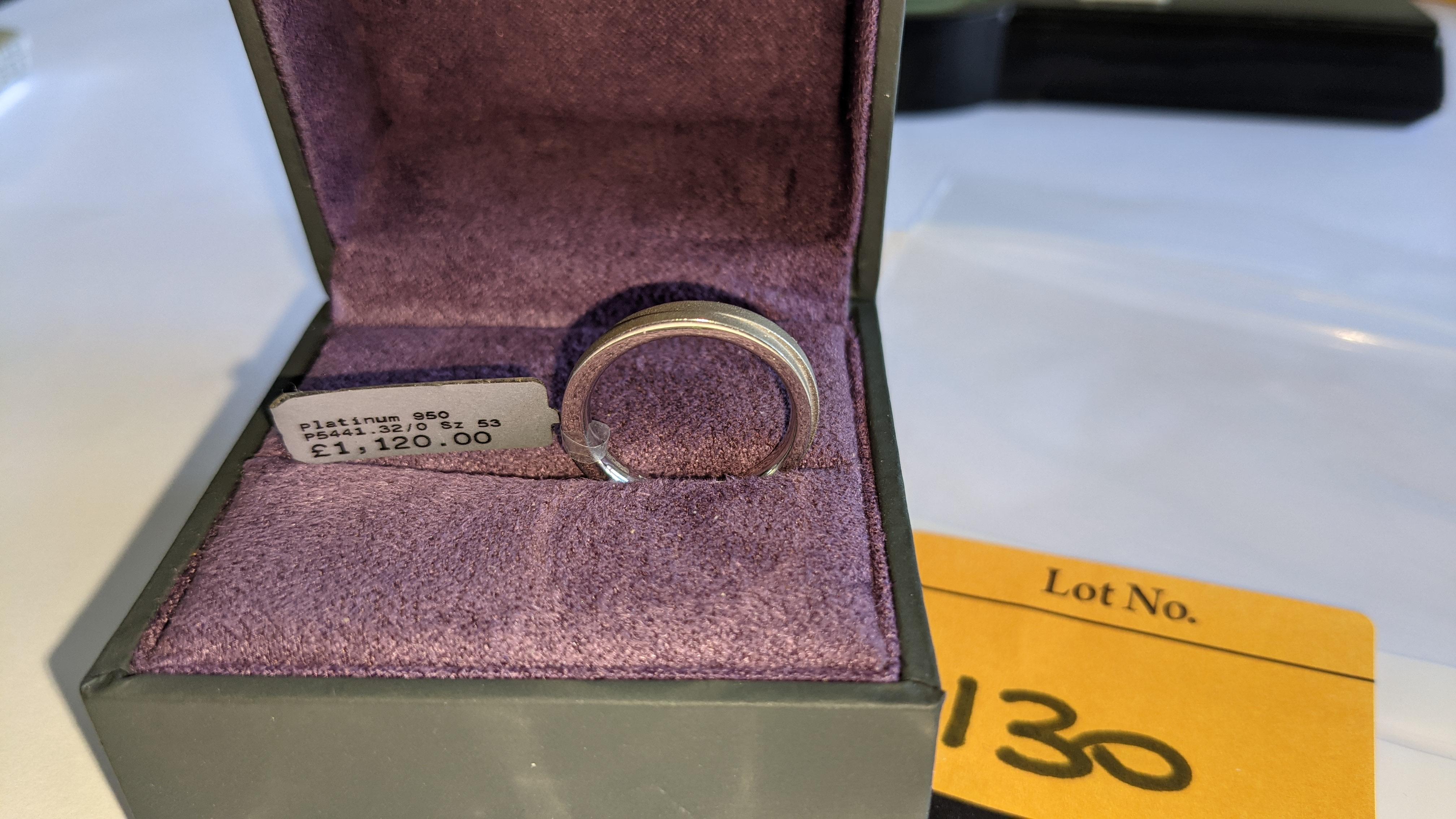 Platinum 950 wedding ring. RRP £1,120 - Image 5 of 13