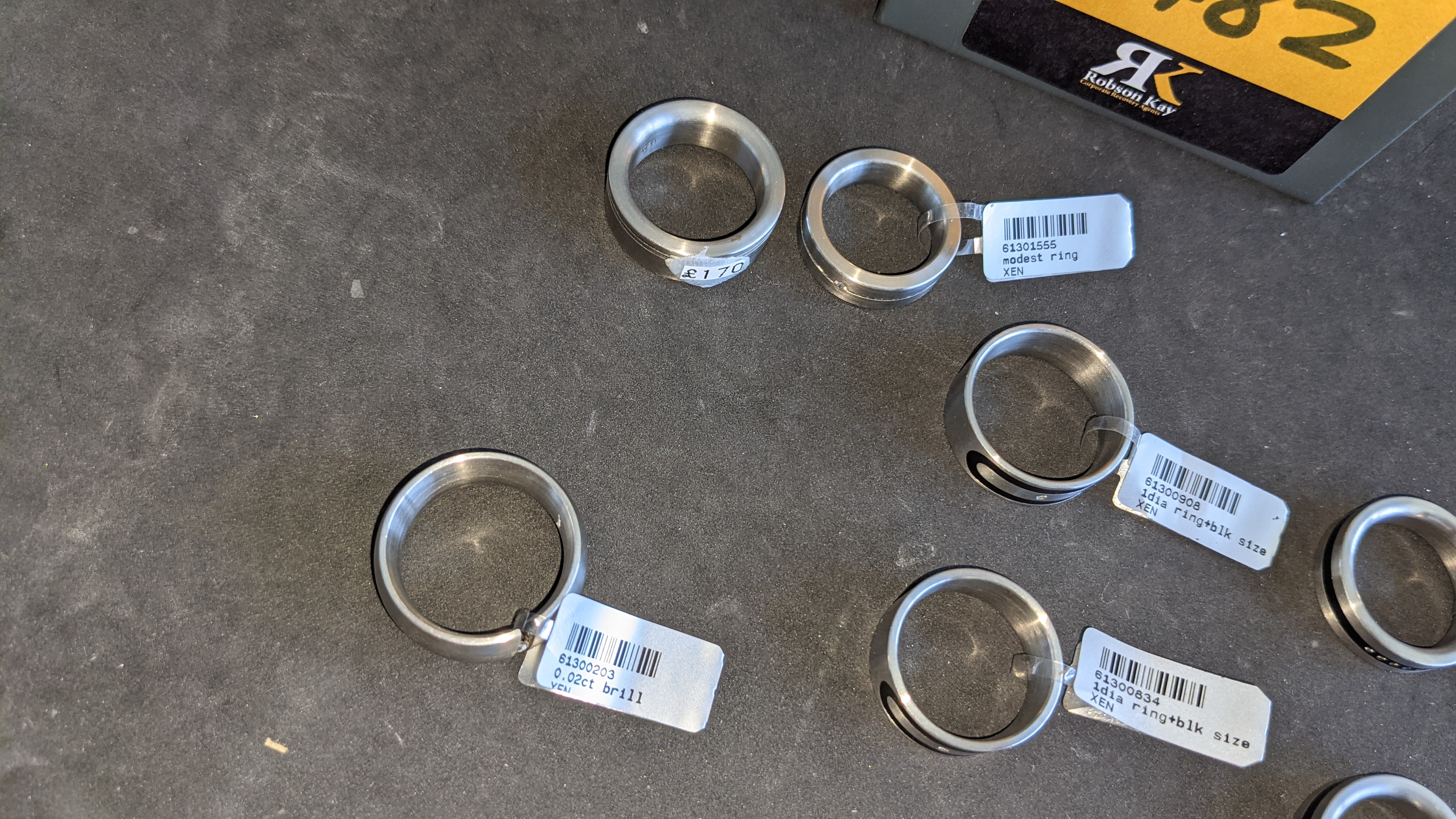 7 off assorted stainless steel & diamond rings. RRPs from £110 - £170. Total RRP £1,028 - Image 12 of 12