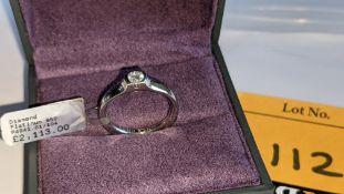 Platinum 950 & diamond ring with 0.275ct F/VS stone RRP £2,113