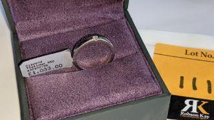 Platinum 950 ring with 0.05ct H/Si diamond. RRP £1,033