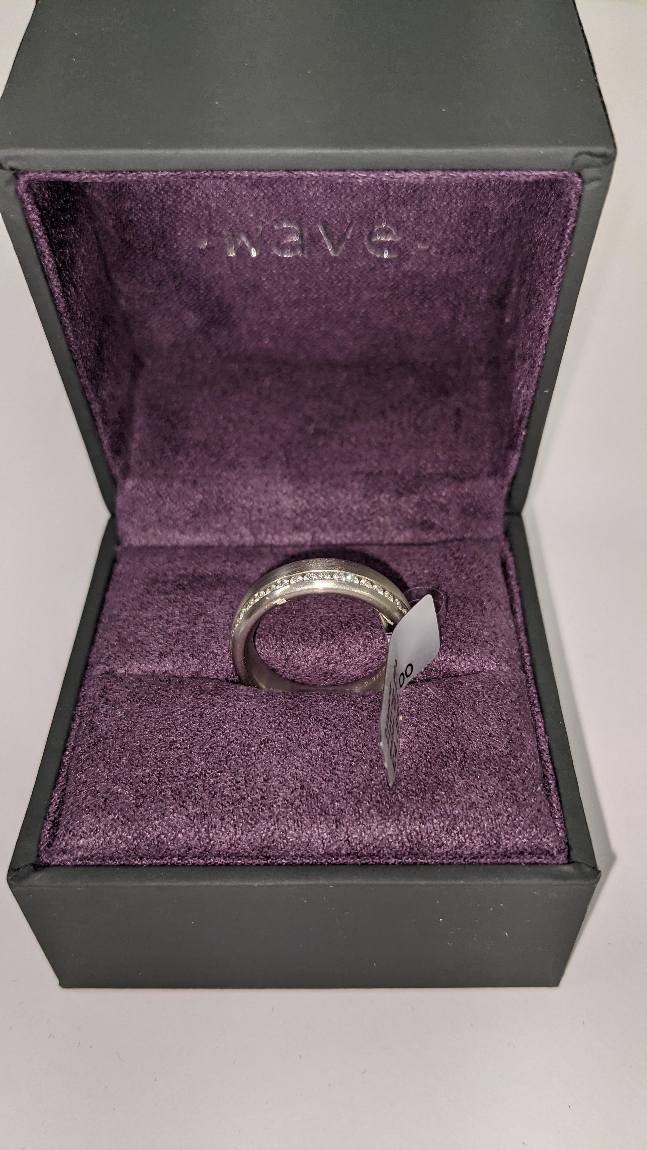 Platinum & diamond ring, 0.51ct of diamonds in total, Platinum 950, RRP £4,840. NB. The diamonds run - Image 20 of 20