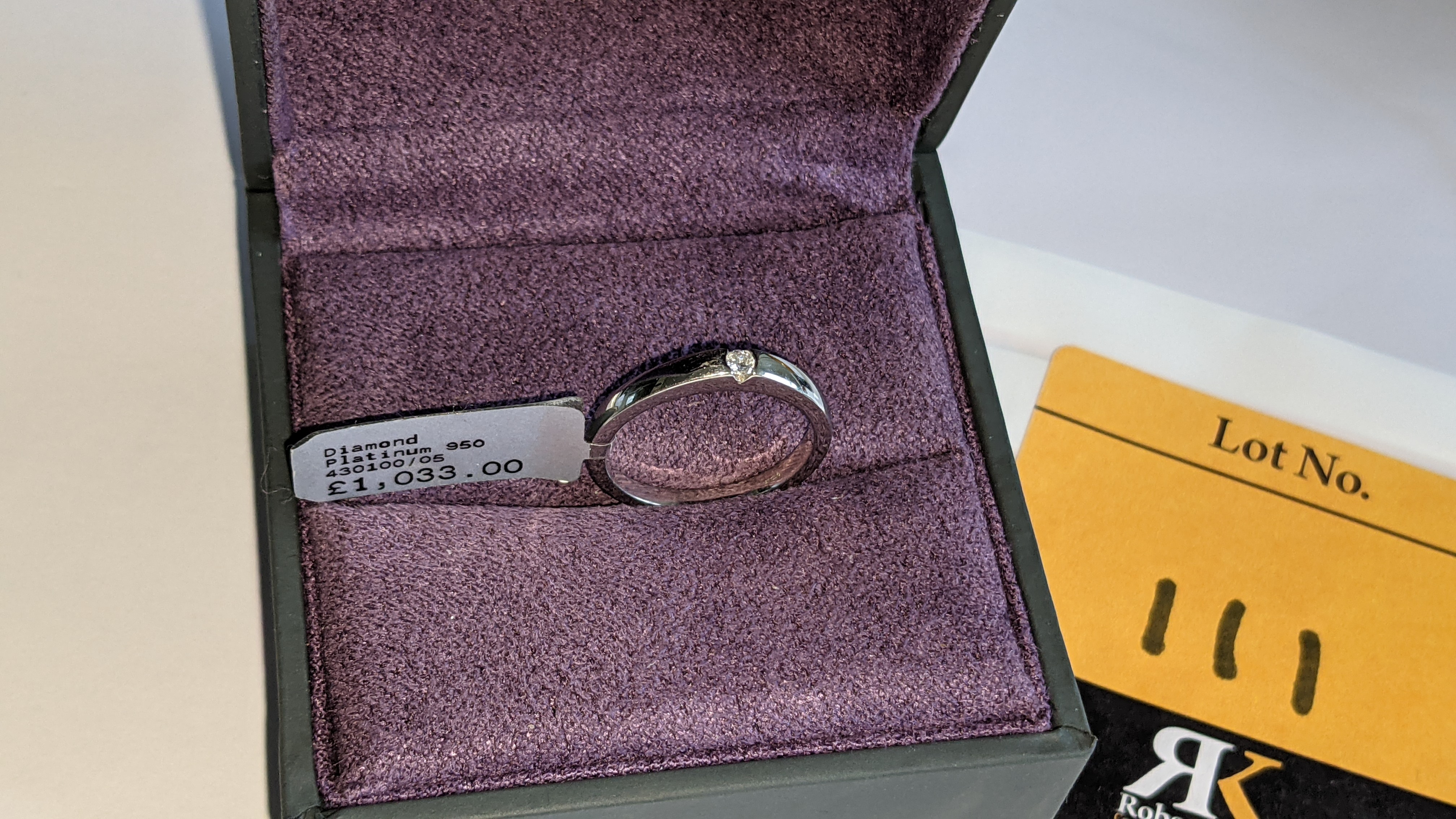 Platinum 950 ring with 0.05ct H/Si diamond. RRP £1,033 - Image 5 of 13