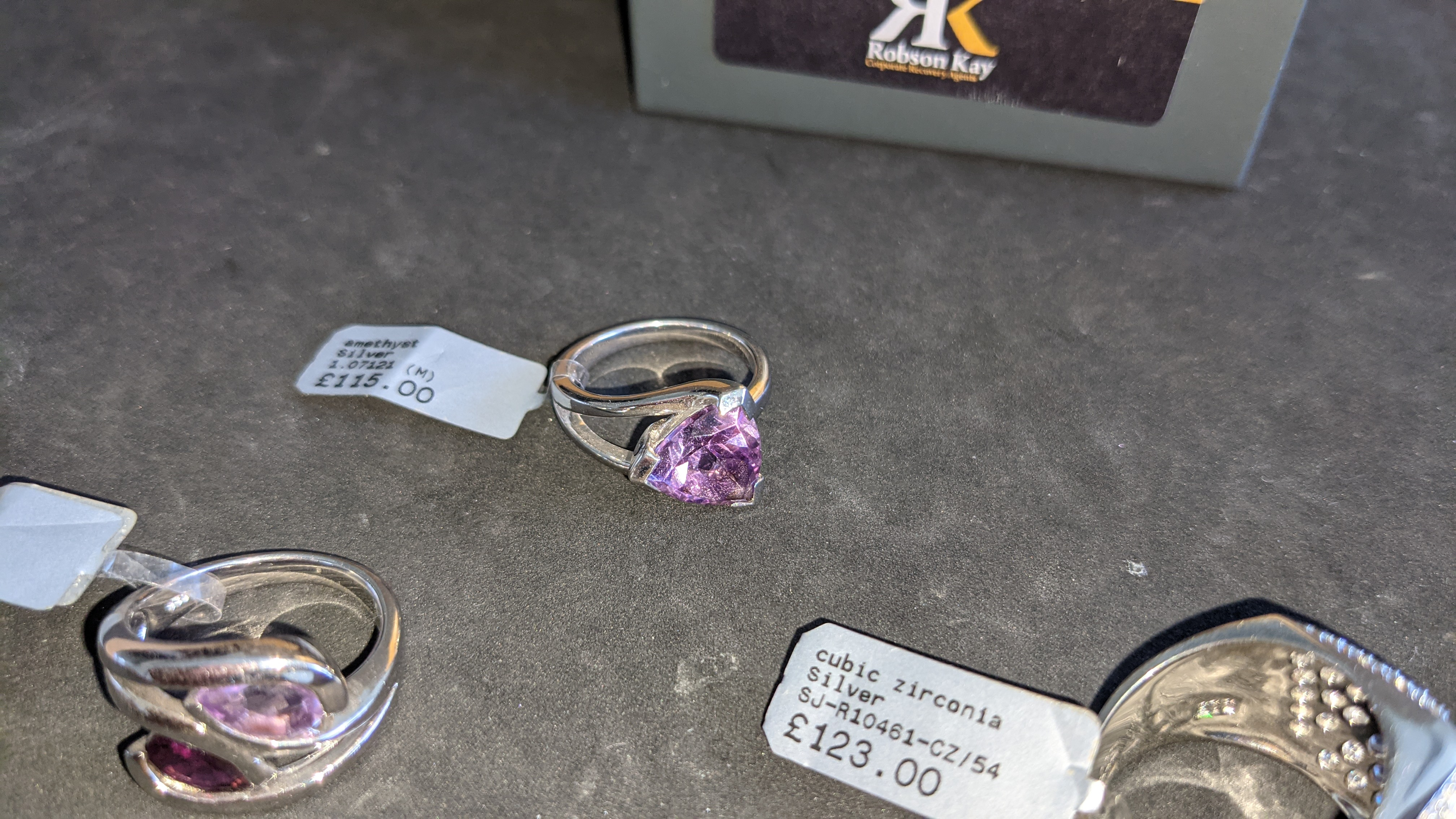 3 off assorted silver rings, each with a coloured stone. RRP from £115 - £123. Total RRP is £358 - Image 8 of 11