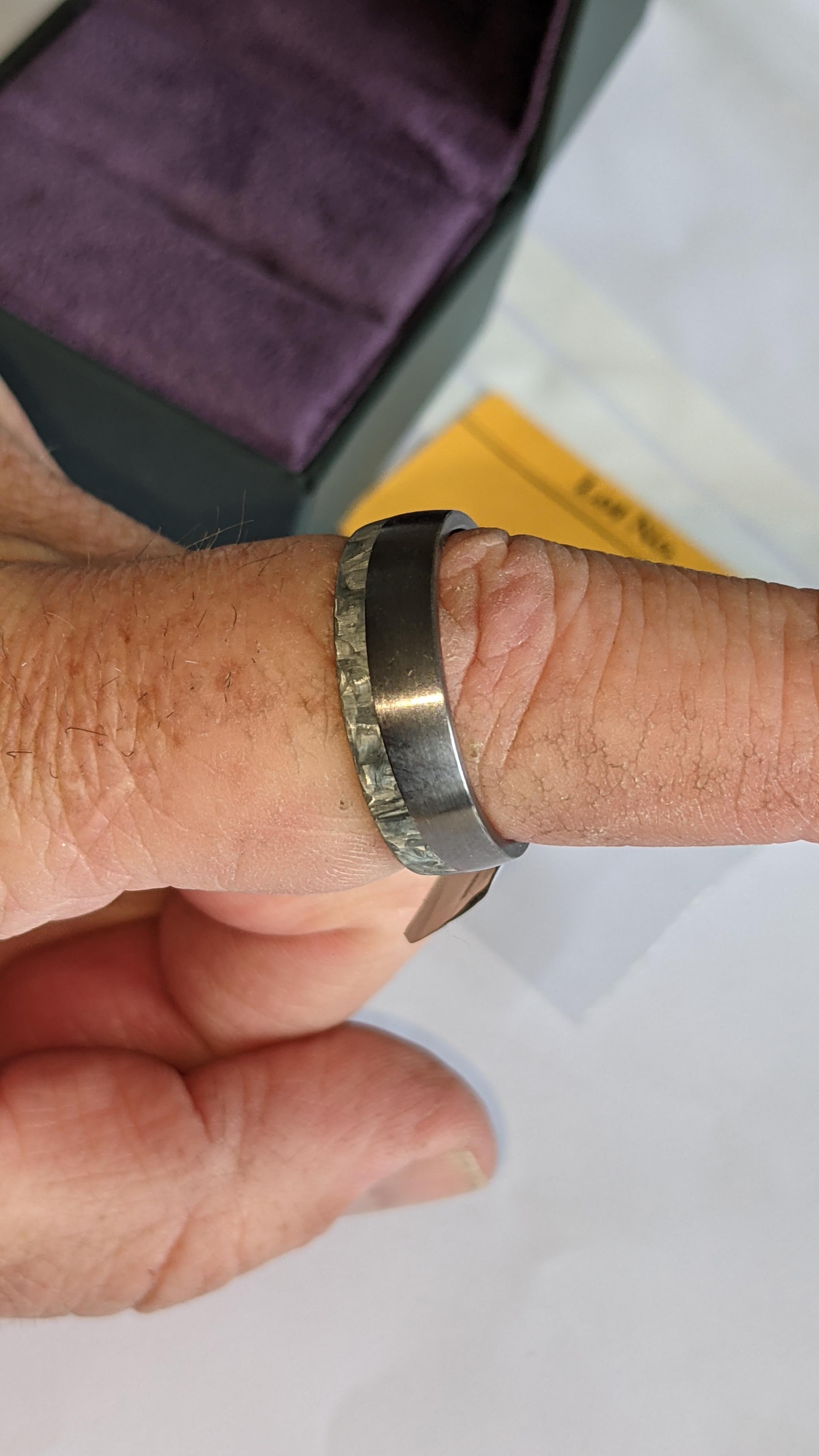 Tantalum & carbon ring RRP £600 - Image 11 of 13