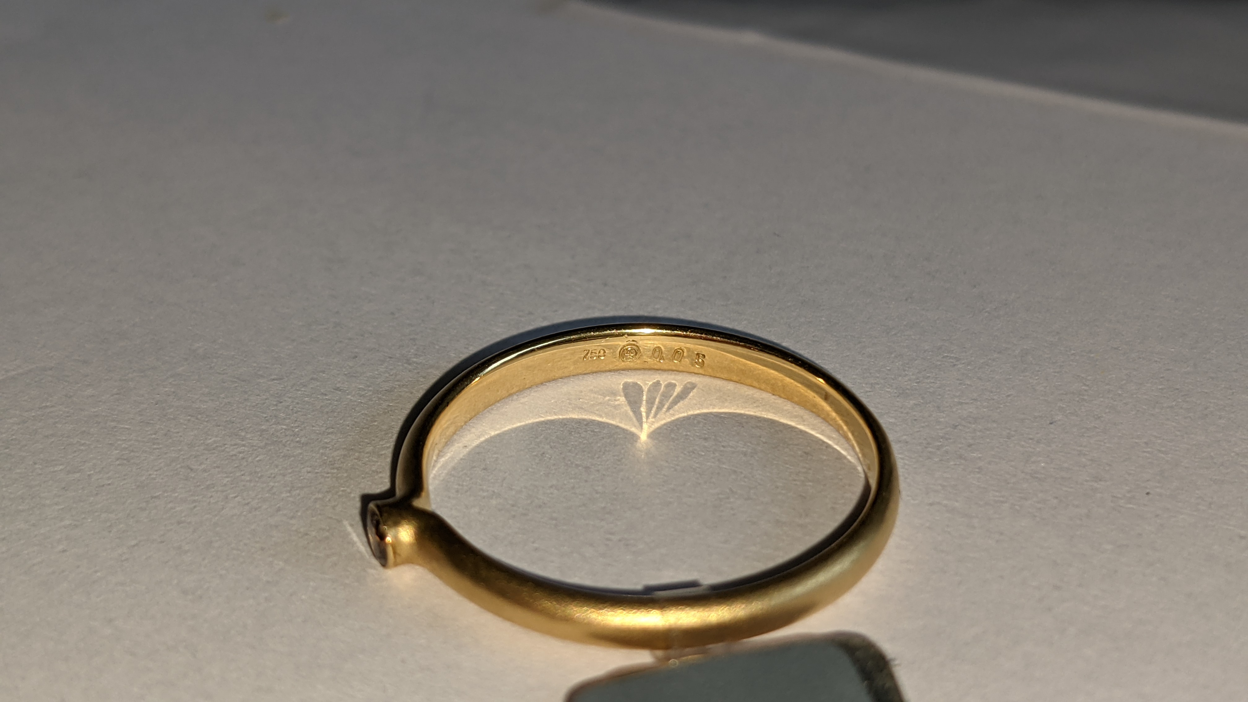 18ct yellow gold & champagne diamond ring RRP £695 - Image 9 of 14