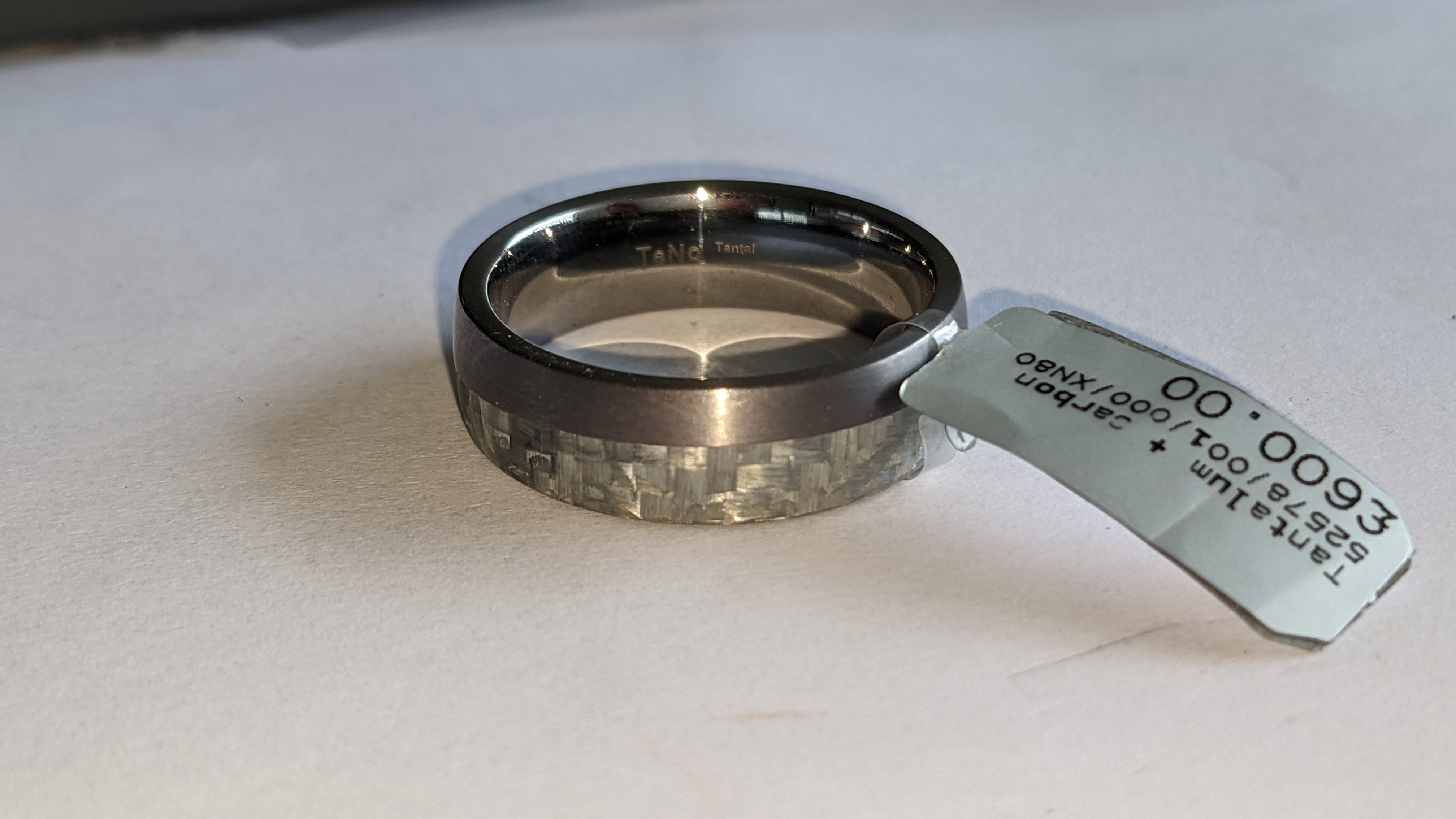 Tantalum & carbon ring RRP £600 - Image 7 of 13