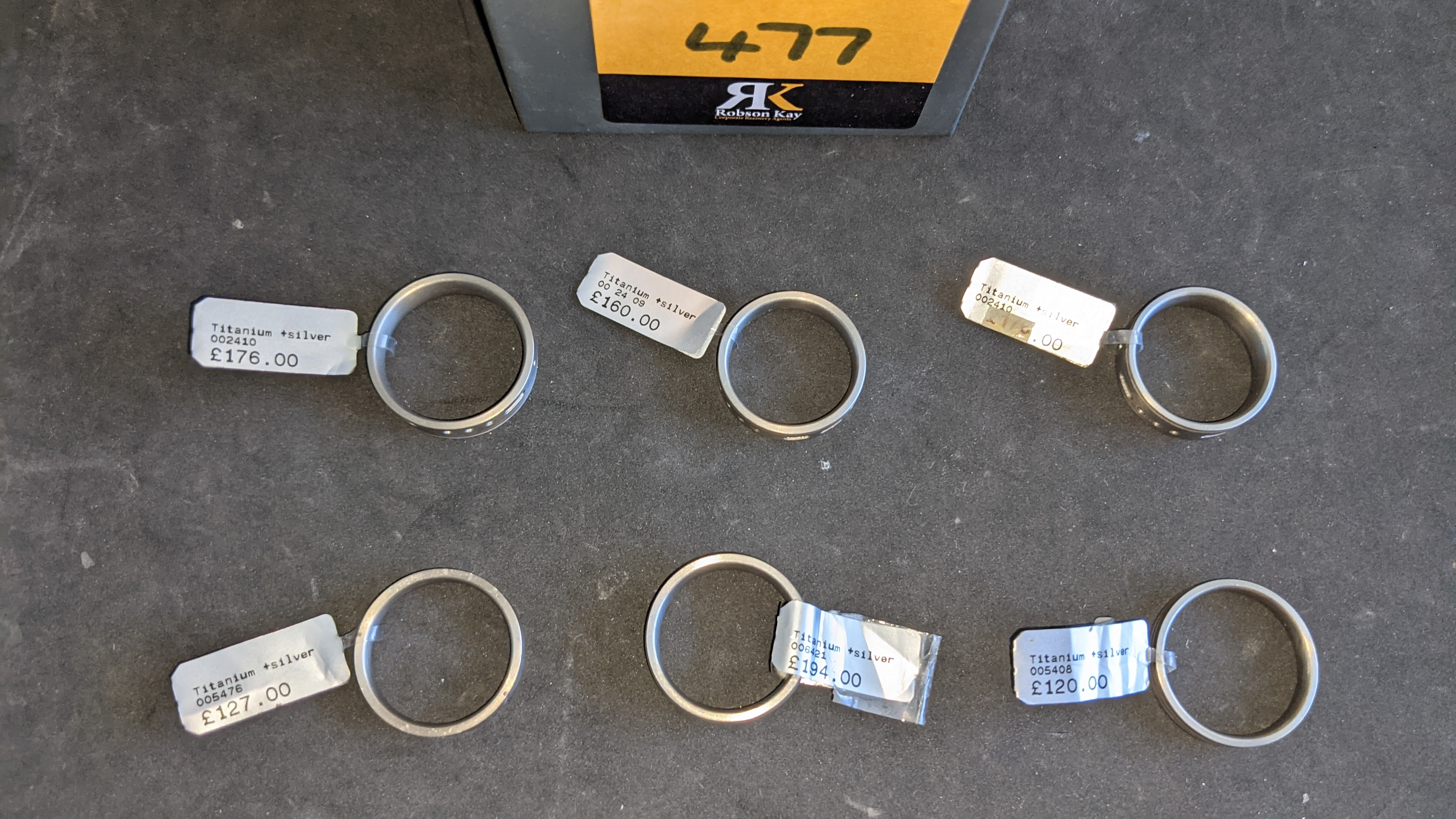 6 off assorted titanium & silver ring with RRPs from £120 - £194 per ring. Total RRP is £953 - Image 6 of 10