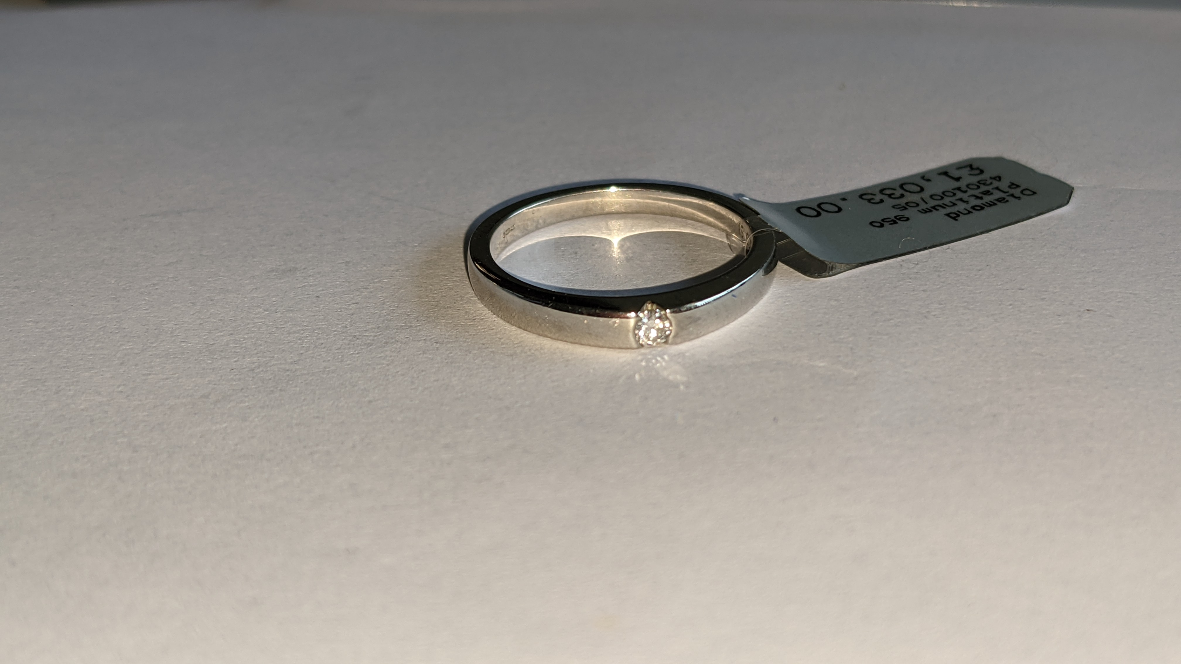 Platinum 950 ring with 0.05ct H/Si diamond. RRP £1,033 - Image 7 of 13