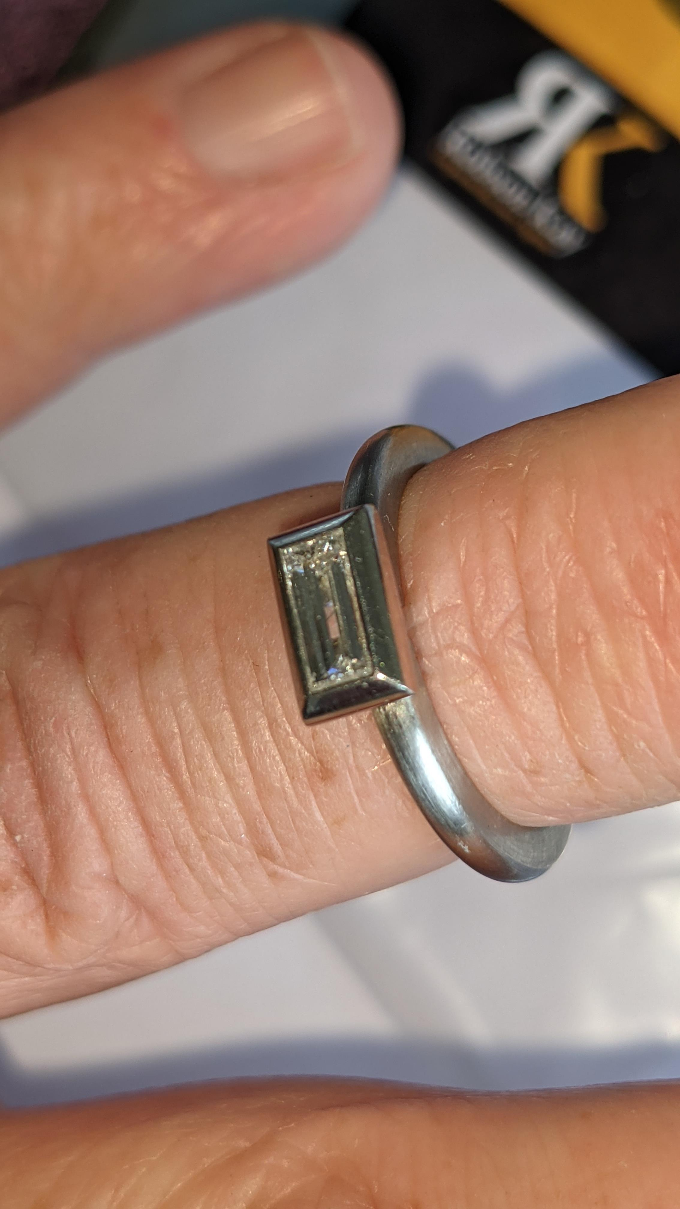 Modern platinum 950 & diamond ring with 0.42ct centrally mounted stone. RRP £4,677 - Image 17 of 18