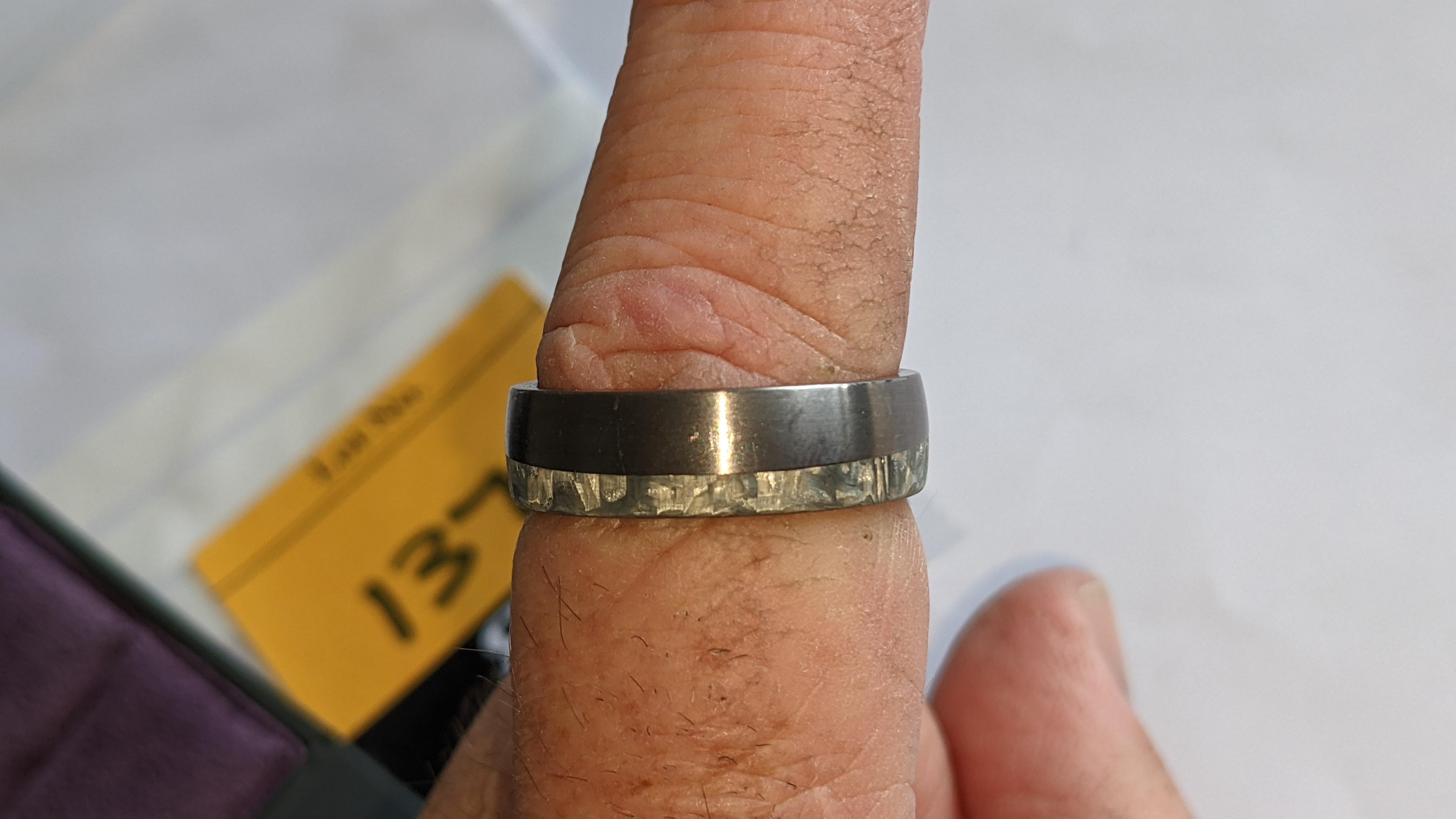 Tantalum & carbon ring RRP £600 - Image 10 of 13