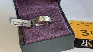 Palladium 950 6mm woven ring. RRP £925