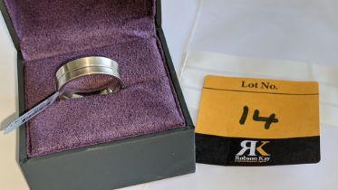 Palladium 950 7mm concave ring. RRP £1,900