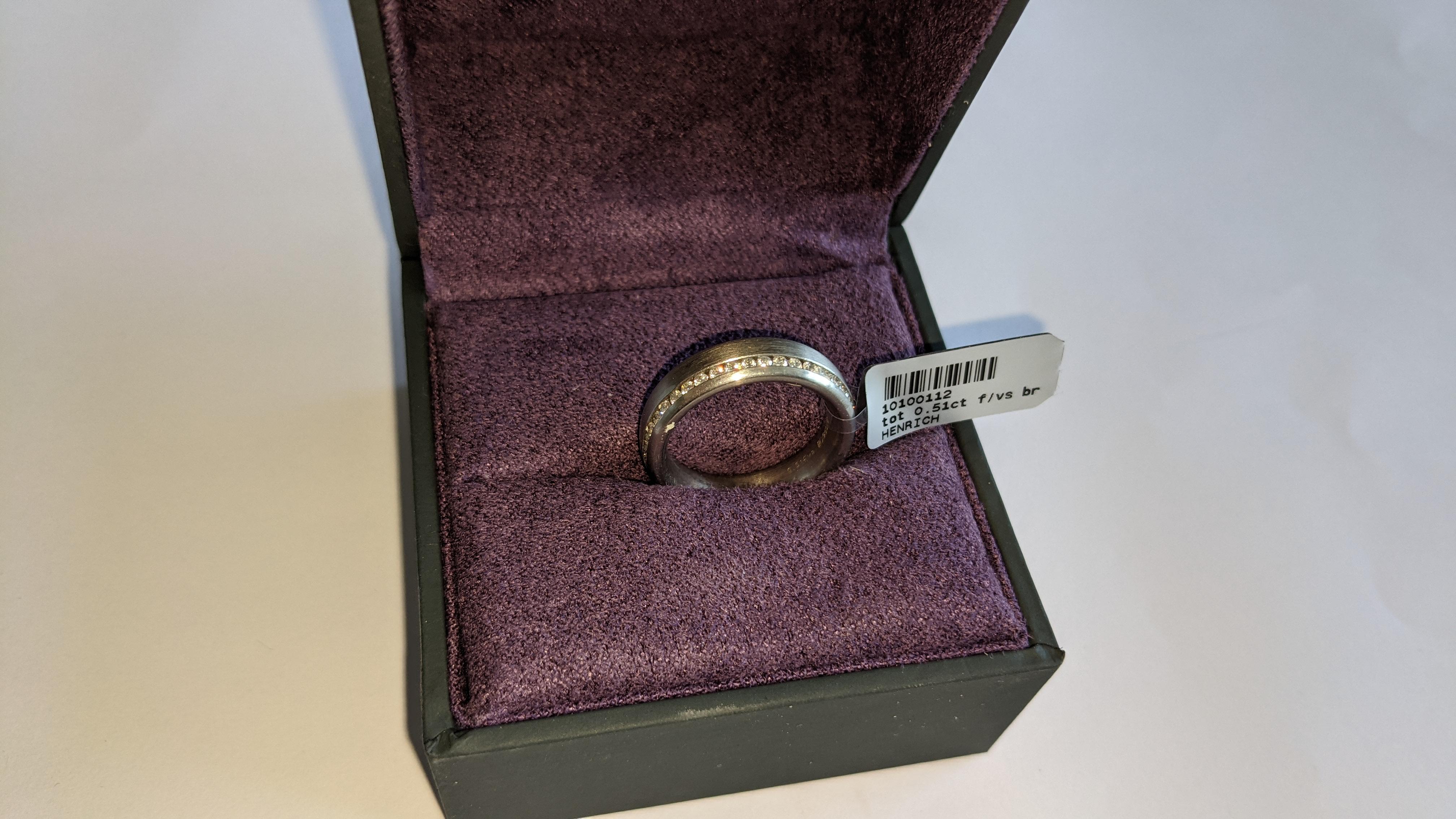 Platinum & diamond ring, 0.51ct of diamonds in total, Platinum 950, RRP £4,840. NB. The diamonds run - Image 13 of 20