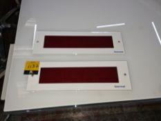 2 off Lasermet X-ray on mains powered warning lights