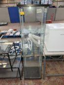 Tall glass display cabinet
