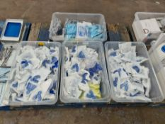 The contents of 4 large crates of Invisalign impression trays, Cybertech aspirator tubes & more