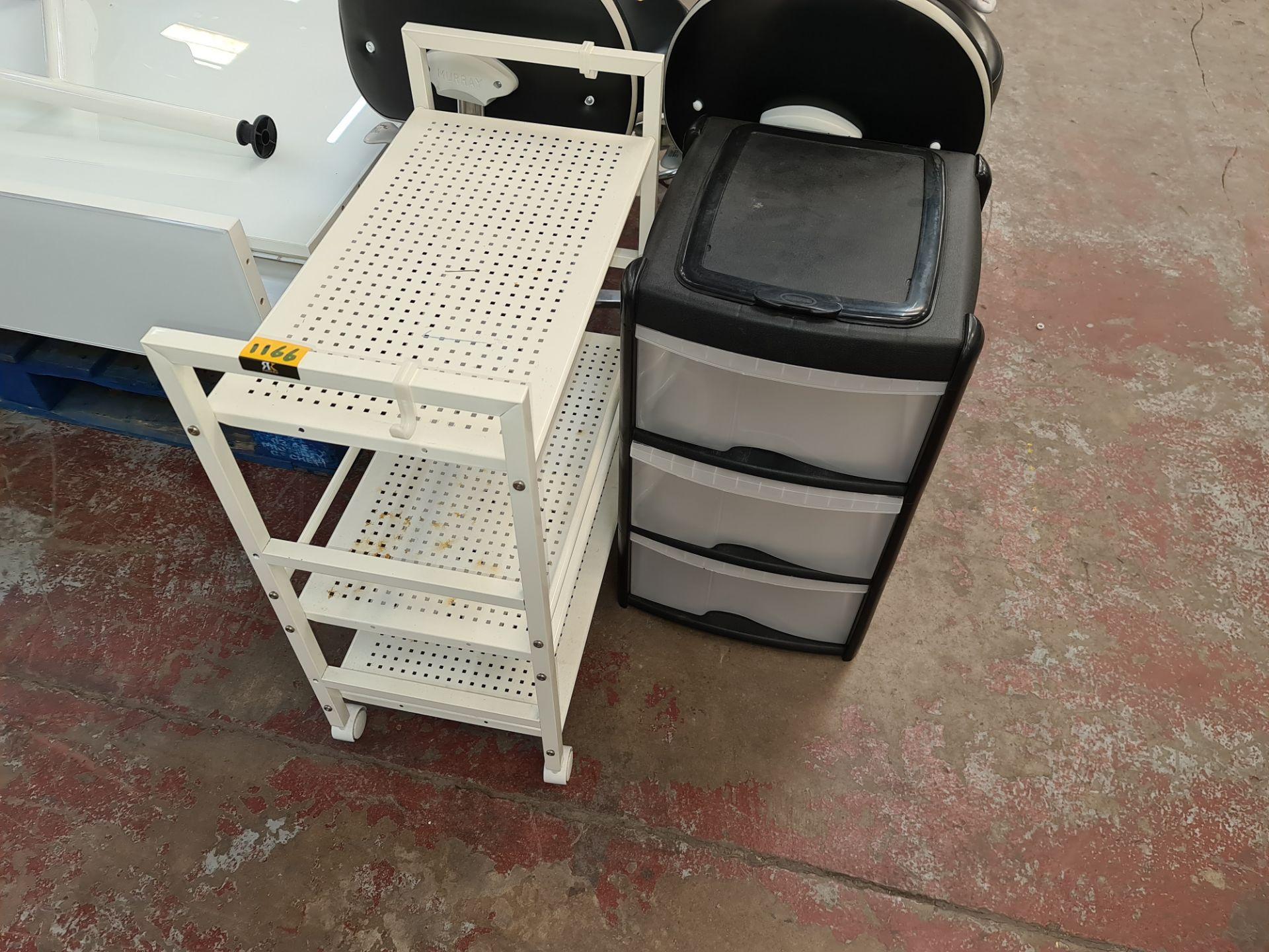 Pair of trolleys/storage units