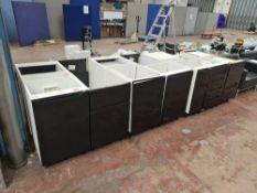 2 runs of base cupboards