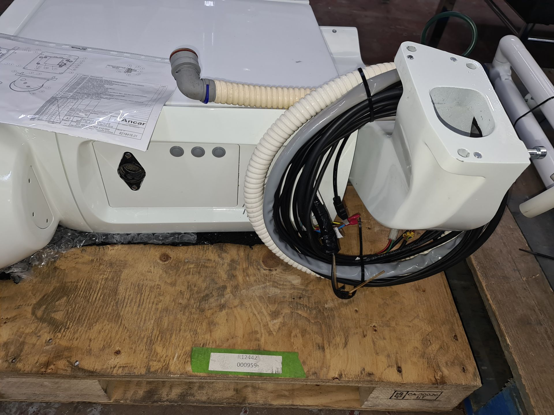 Ancar model SD-175 electro pneumatic dental chair & treatment centre unit with hanging hoses system - Image 9 of 24