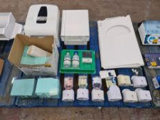 The contents of a pallet of assorted hygiene related items