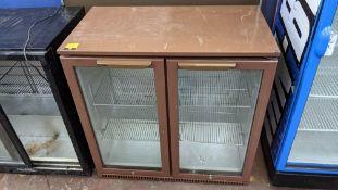 Husky brown twin clear door back bar/bottle fridge