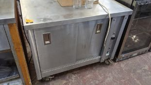 Stainless steel mobile warming cupboard