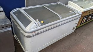 AHT very large clear topped chest freezer measuring 1830mm x 850mm