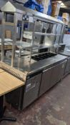 Eco Pro G2 large stainless steel multifunction unit comprising refrigerated cabinets in the base, re
