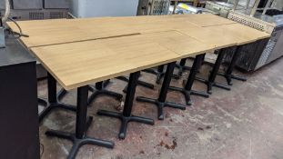 12 off single pedestal square café/fast food tables
