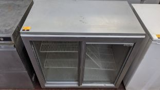 Husky silver twin clear sliding door back bar/bottle fridge
