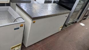 Polar Refrigeration chest freezer with stainless top circa 1500mm wide, model CE211