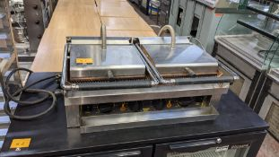 Roller grill twin contact grill system