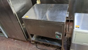 Vizu stainless steel breading table (chicken) - tray missing