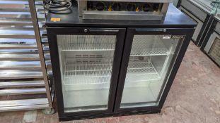 Blizzard black back bar/bottle fridge with twin clear doors