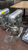 Pantheon model B200 heavy-duty commercial mixer including removable bowl, paddle & whisk