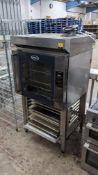Unox 6-grid Bakerlux SHOP.Pro oven plus ventless hood & oven stand, model no. XEFT-06EU-ELLV, unders