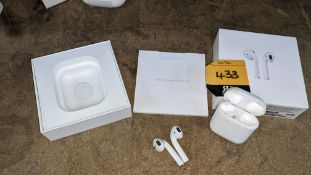 Apple AirPods with charging case, box & book pack